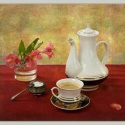 Пазл онлайн: Красивое чаепитие