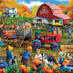 Пазл онлайн: Осенний фестиваль