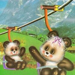 Пазл онлайн: Детские винтажные открытки