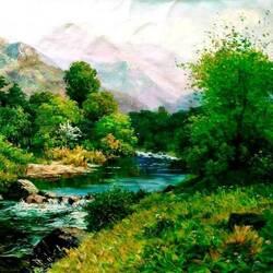 Пазл онлайн: По зелёной долине