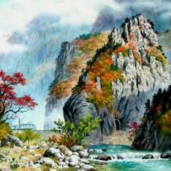 Пазл онлайн: Дорога через горы