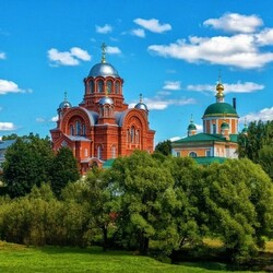 Пазл онлайн: Покровский Хотьков монастырь