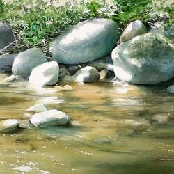 Пазл онлайн: Камни и вода