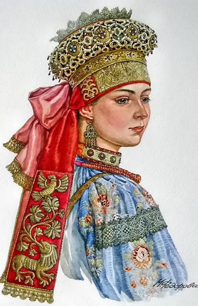 Русский народный головной убор в картинках