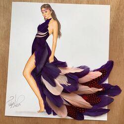 Пазл онлайн: Платье из разных перьев