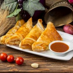 Пазл онлайн: Хачапури из слоеного теста
