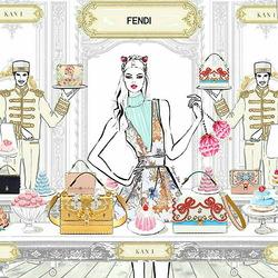 Пазл онлайн: Рекламная кампания Fendi