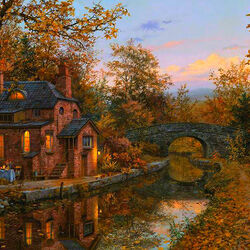 Пазл онлайн: Осенний вечер