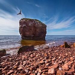 Пазл онлайн: Белое море  - аметистовый берег