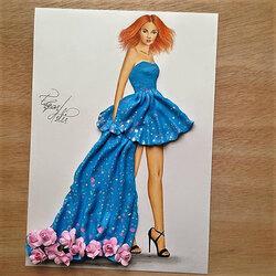 Пазл онлайн:  Платье из полимерной глины