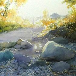 Пазл онлайн: Камни у дороги