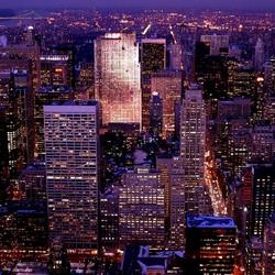 Пазл онлайн: Ночной Нью- Йорк