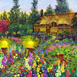 Пазл онлайн: Деревенсксий домик