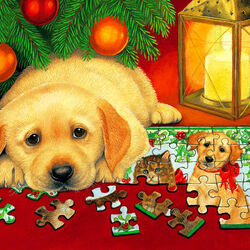 Пазл онлайн: Рождественский пазл