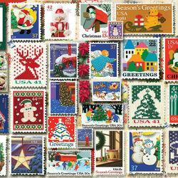Пазл онлайн: Рождественские марки