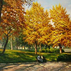Пазл онлайн: Осеннее солнце