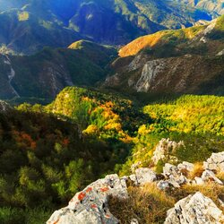 Пазл онлайн: Осенние горы