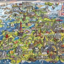 Пазл онлайн: Прекрасная Британия