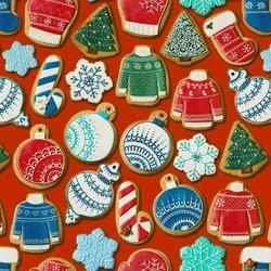 Пазл онлайн: Печенье от Деда Мороза