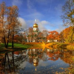 Пазл онлайн: Осень в Царском Селе