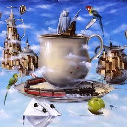 Пазл онлайн: Утренний кофе для путешественников