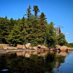 Пазл онлайн: Лесной островок