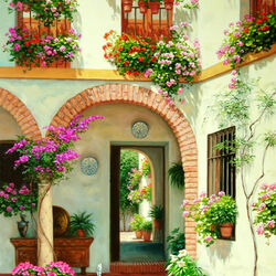 Пазл онлайн: Андалузский дворик