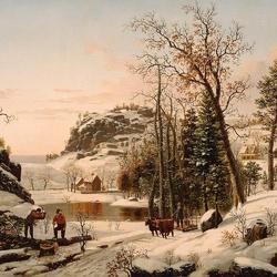 Пазл онлайн: Зима в Новой Англии