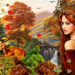 Пазл онлайн: Госпожа осень