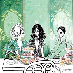 Пазл онлайн: Леди за чаепитием