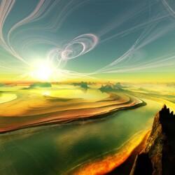 Пазл онлайн: Небесные вихри