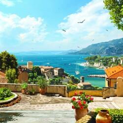 Пазл онлайн: Город у моря