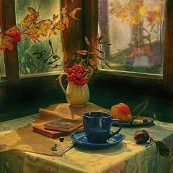 Пазл онлайн: За окном осень