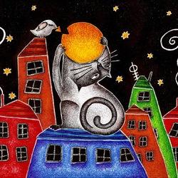 Пазл онлайн: Рыжий кот