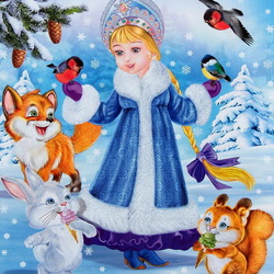 Пазл онлайн: Снегурочка