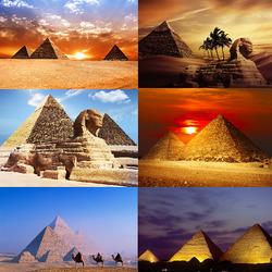 Пазл онлайн: Пирамиды Египта