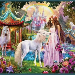 Пазл онлайн: Принцессин сад