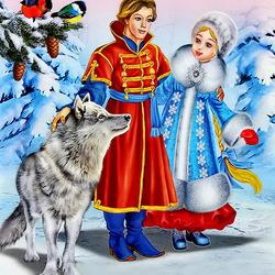 Пазл онлайн: Зимние сказки
