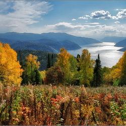 Пазл онлайн: Осеннний пейзаж