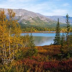 Пазл онлайн: Осенние краски Хибин