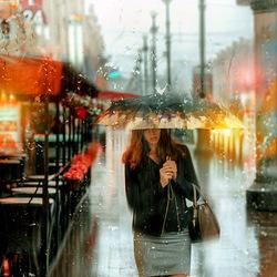 Пазл онлайн: Дождь на Невском проспекте