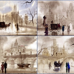 Пазл онлайн: Прага, Карлов мост