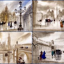 Пазл онлайн: Европейские города