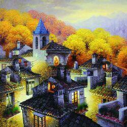 Пазл онлайн: Осенняя долина