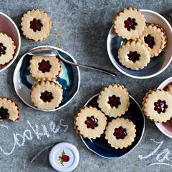 Пазл онлайн: Печенье с джемом