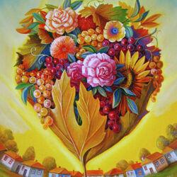 Пазл онлайн: Сердце осени