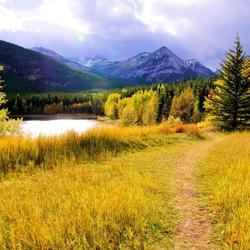 Пазл онлайн: Осень в горах
