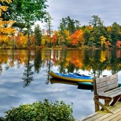 Пазл онлайн: Яркая осень