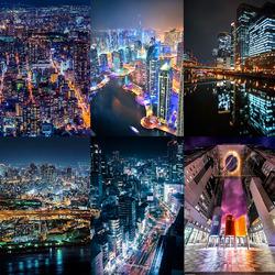 Пазл онлайн: Огни больших городов