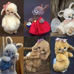 Пазл онлайн: Зайчатки